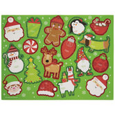 Glitter Edge Christmas Icons Gift Tag Stickers