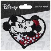 Mickey & Minnie Mouse Kiss Iron-On Applique