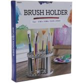 Gray Round Brush Holder
