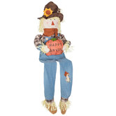 Happy Harvest Plush Scarecrow Sitter