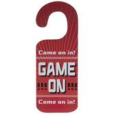 Game Over & Game On Wood Door Hanger