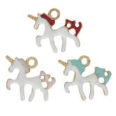 Enamel Unicorn Charms