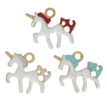 Enamel Unicorn Charms