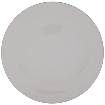 White With Silver Trim Plate