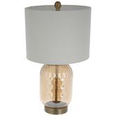 Champagne Honeycomb Glass Lamp