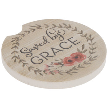 Saved By Grace Car Coaster