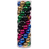 Gold, Blue, Pink & Black Shiny Ball Ornaments