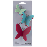 Multi-Color Butterflies Adhesive Wall Art