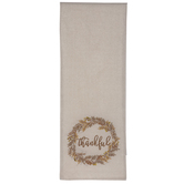 Thankful Wreath Table Runner