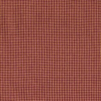 Wine & Tan Homespun Basic Check Cotton Calico Fabric