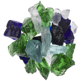 Blue & Green Sea Glass Mosaic Gems