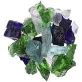Blue & Green Sea Glass Mosaic Gems