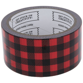 Red & Black Buffalo Check Art Project Tape