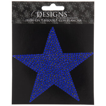 Rhinestone Star Iron-On Applique