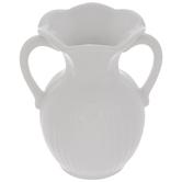 White Flared Rim Mini Vase