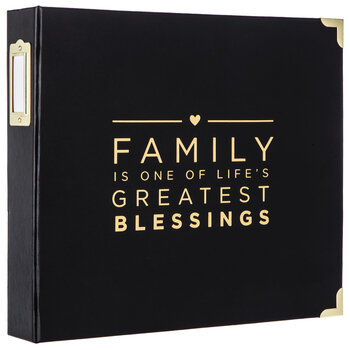 "Black Family 3-Ring Scrapbook Album - 12"" x 12"""