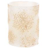 Gold Snowflake LED Candle