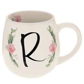 Floral Letter Mug - R