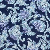 Blue Paisley Outdoor Fabric