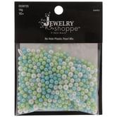 Blue, Green & White Plastic Pearl Bead Mix