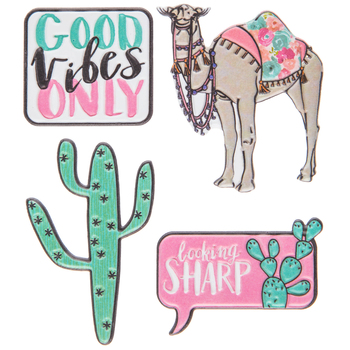 Camels Puffy Stickers