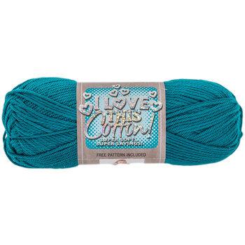 Deep Teal I Love This Cotton Yarn