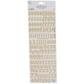Gold Foil Gracie Moon Alphabet Stickers