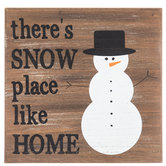 Snow Place Like Home Wood Decor