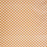 Orange & White Buffalo Check Table Cover Roll