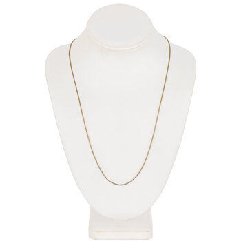 "Tiny Box Chain Necklace - 30"""