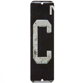 License Plate Letter Metal Sign - C