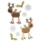 Reindeer 3D Stickers