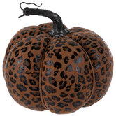 Leopard Print Plush Pumpkin