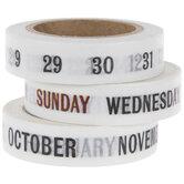 Calendar Washi Tape