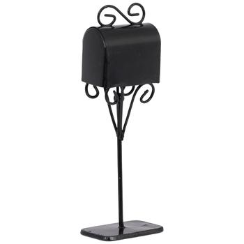 Miniature Black Metal Mailbox
