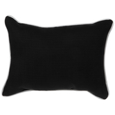 Black Pillow With White Trim