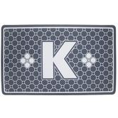 Gray Geometric Tiles Letter Doormat - K