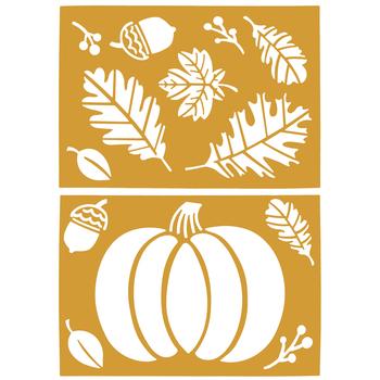 Pumpkin, Leaves & Acorns Fall Stencils