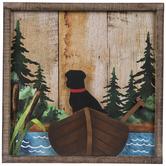 Canoe Dog Wood Wall Decor