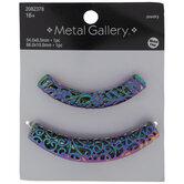 Rainbow Curved Tube Beads