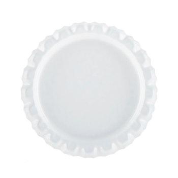 White Metal Bottle Cap Embellishments