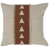 Beige & Clay Triangles Pillow Cover