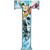 Superhero Letter Metal Sign - T