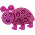 Pink Glitter Ladybug Shank Buttons