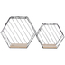 Hexagon Metal Wall Shelf Set