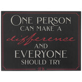 Make A Difference Wood Decor