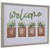 Welcome Home Plants Wood Wall Decor