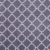 Gray & White Geometric Minky Plush Fabric