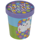 Happy Easter Bunny Snack Cups With Lids