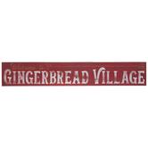 Gingerbread Village Wood Wall Decor